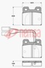 REAR DISC BRAKE PADS - ALFA,BMW,POR DB93 E