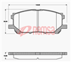 DB1517 E FRONT DISC BRAKE PADS - TOYOTA HARRIER 03-